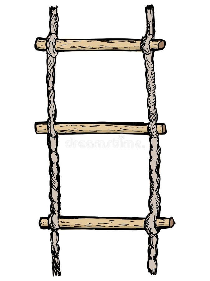 Σχοινί-σκάλα διανυσματική απεικόνιση