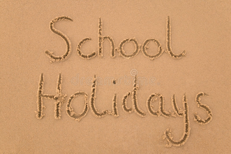 σχολείο άμμου διακοπών στοκ φωτογραφία με δικαίωμα ελεύθερης χρήσης