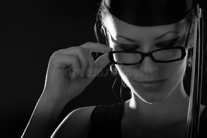 σχολείο γυαλιών κοριτ&sigma στοκ φωτογραφία με δικαίωμα ελεύθερης χρήσης