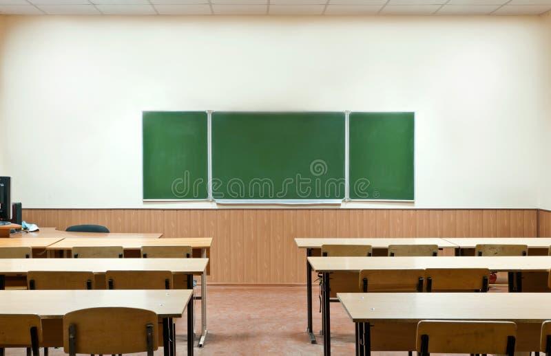 σχολείο δωματίων κλάσης χαρτονιών στοκ φωτογραφία