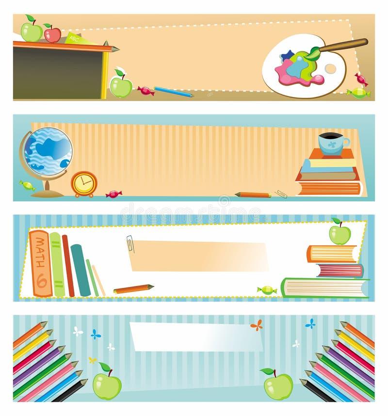 σχολείο εμβλημάτων διανυσματική απεικόνιση