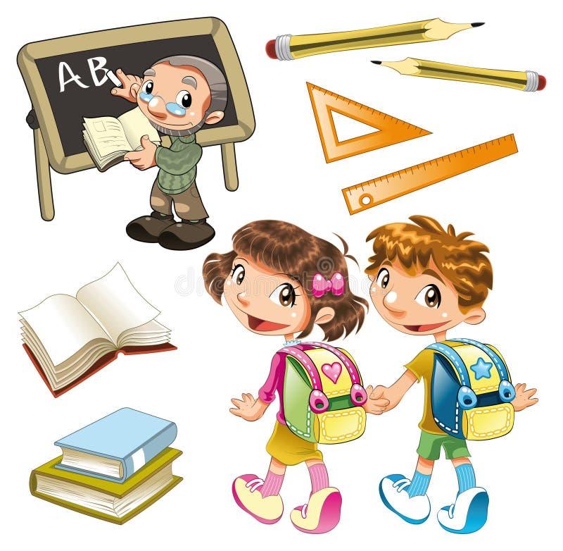 σχολείο στοιχείων ελεύθερη απεικόνιση δικαιώματος