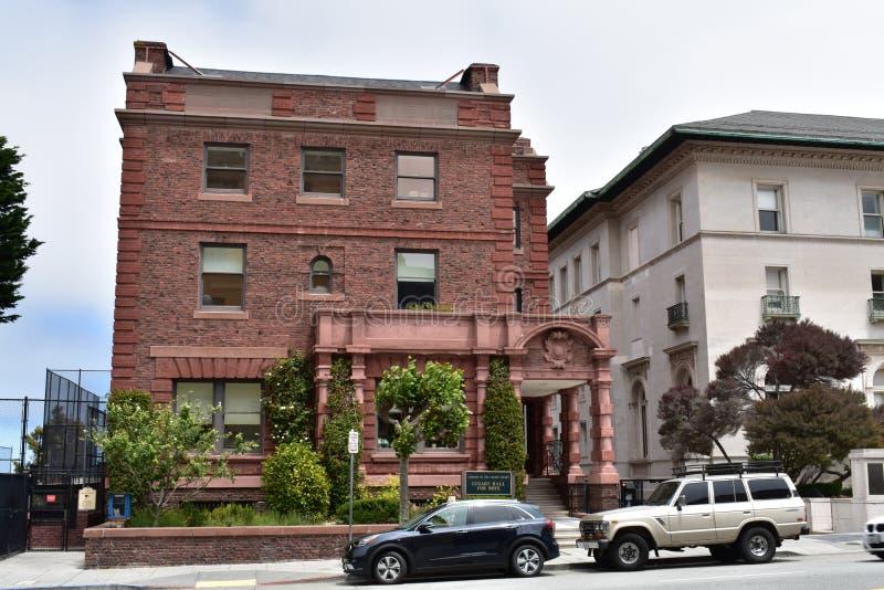 Σχολείο της ιερής καρδιάς Σαν Φρανσίσκο, το μέγαρο Hammond, 1 στοκ φωτογραφία