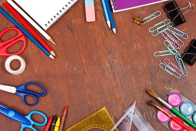 σχολικά εργαλεία στοκ εικόνες