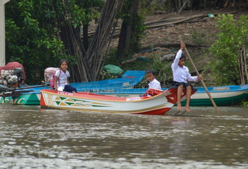 Σχολικά παιδιά Mekong στοκ φωτογραφία με δικαίωμα ελεύθερης χρήσης