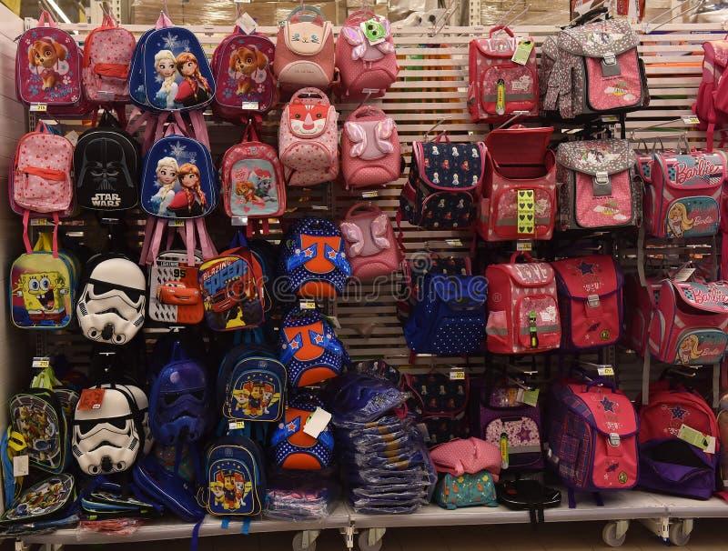 74bbe40e8ca Σχολικά σακίδια πλάτης στο κατάστημα Εκδοτική Φωτογραφία - εικόνα από  haversack, εκπαίδευση: 96582117