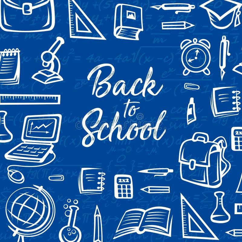 Σχολικές προμήθειες, σημειωματάριο σπουδαστών, μολύβι, βιβλίο απεικόνιση αποθεμάτων