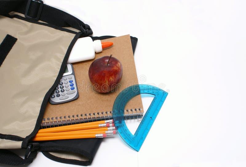 σχολικές προμήθειες στοκ φωτογραφία