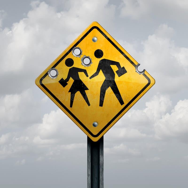 Σχολική ένοπλη βία στοκ φωτογραφία με δικαίωμα ελεύθερης χρήσης