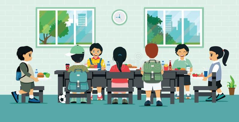 Σχολική καφετέρια διανυσματική απεικόνιση
