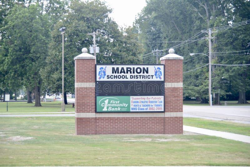Σχολική περιοχή της Marion Αρκάνσας στοκ εικόνες