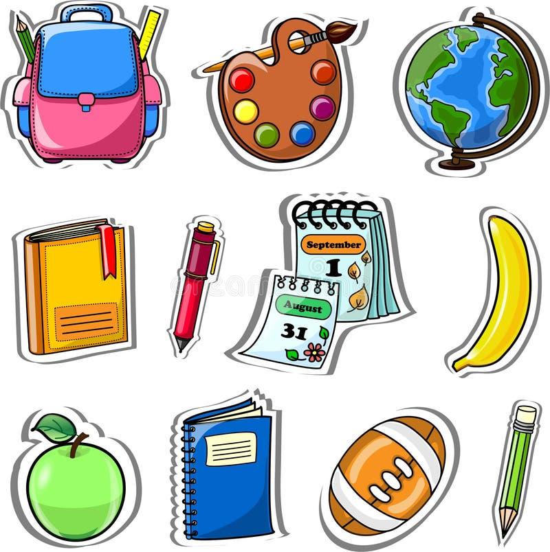 Σχολική τσάντα κινούμενων σχεδίων, διάνυσμα ελεύθερη απεικόνιση δικαιώματος
