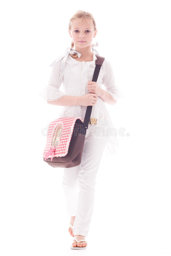 σχολική τσάντα παιδιών στοκ εικόνα