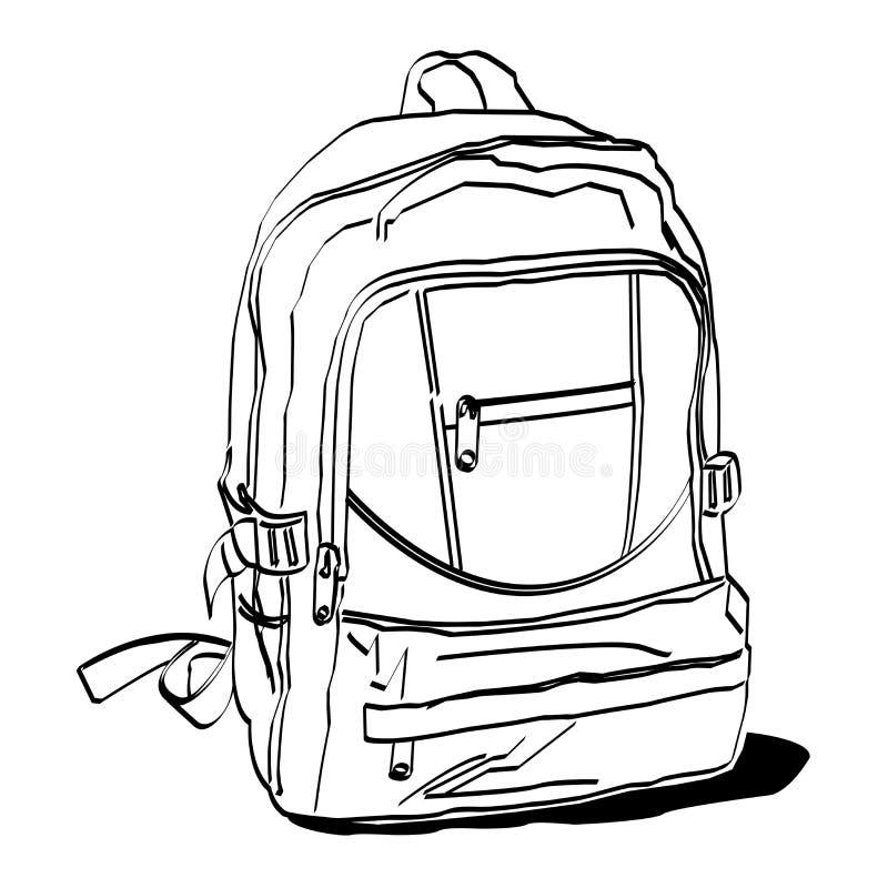 Σχολική τσάντα ελεύθερη απεικόνιση δικαιώματος