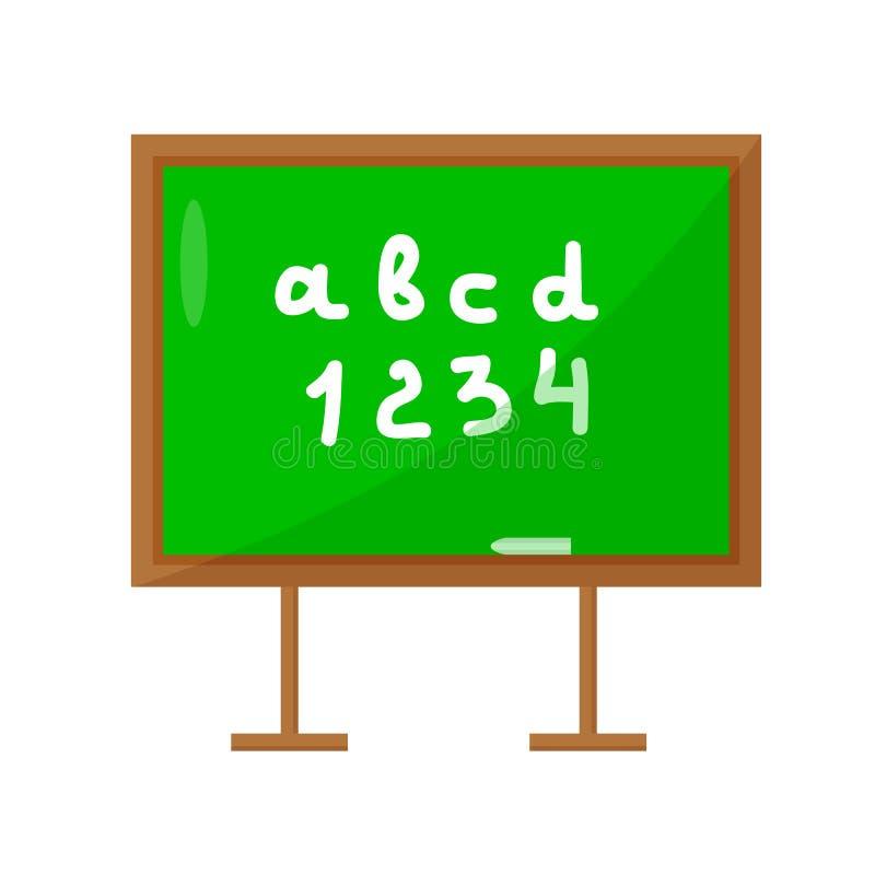 Σχολικός πίνακας που απομονώνεται σε ένα άσπρο υπόβαθρο chalkboard r ελεύθερη απεικόνιση δικαιώματος