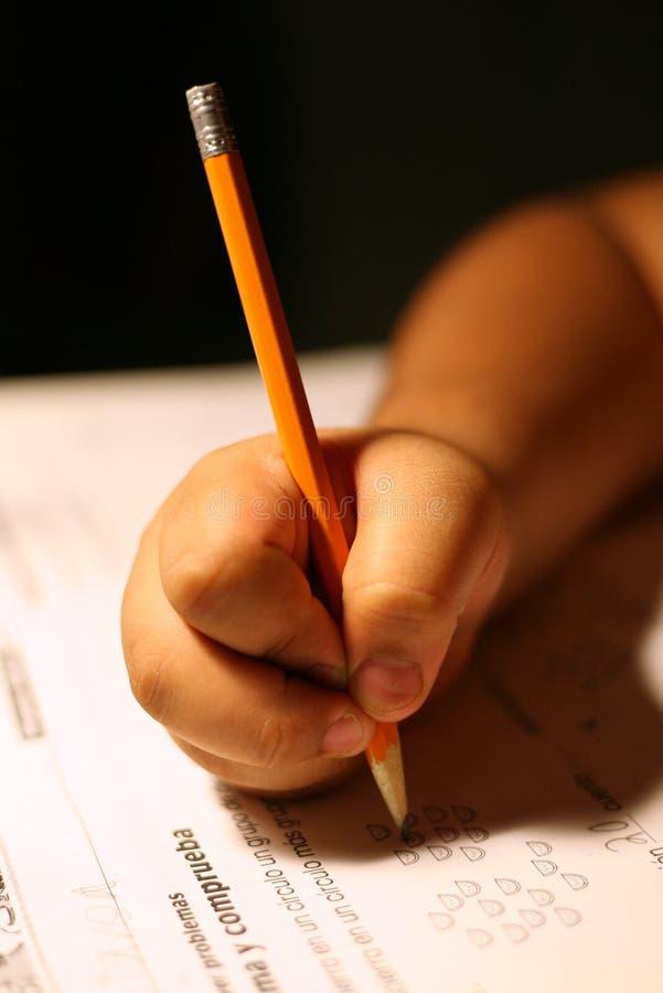 σχολικό γράψιμο στοκ φωτογραφία με δικαίωμα ελεύθερης χρήσης