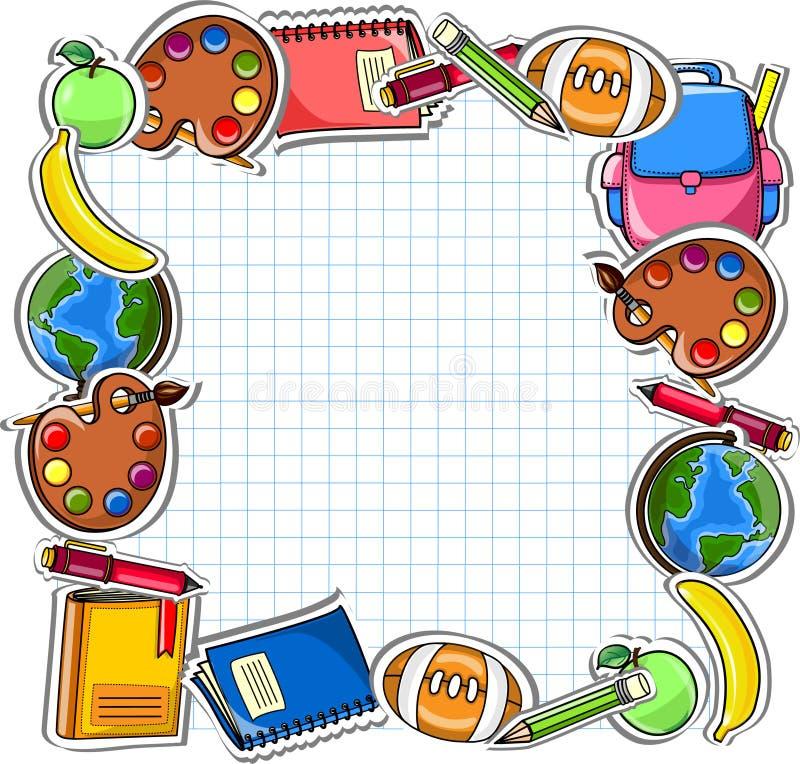 σχολικό διάνυσμα σχεδίων ανασκόπησης ελεύθερη απεικόνιση δικαιώματος