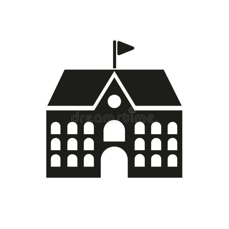 Σχολικό εικονίδιο Πανεπιστημιούπολη και πανεπιστήμιο, σύμβολο οικοδόμησης : Απόθεμα - διανυσματική απεικόνιση στοκ φωτογραφίες με δικαίωμα ελεύθερης χρήσης