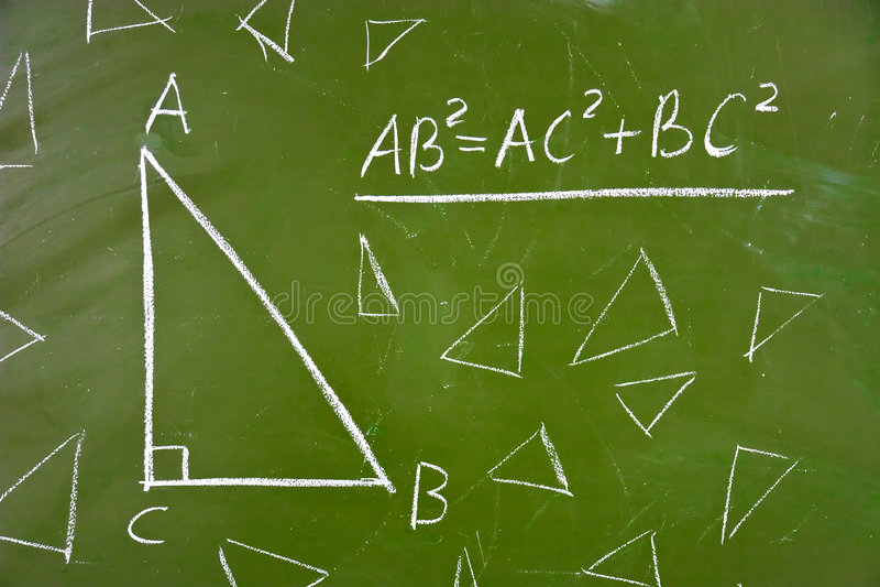 σχολικό θεώρημα γεωμετρί στοκ εικόνες