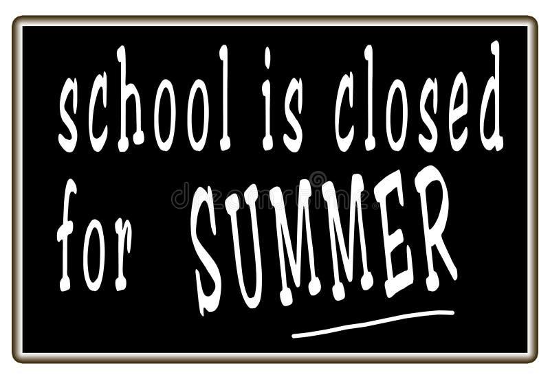 σχολικό καλοκαίρι διακοπών διανυσματική απεικόνιση