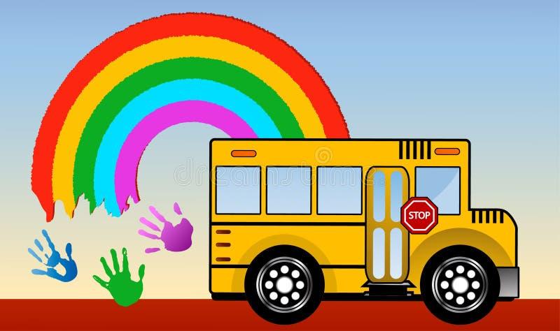 Σχολικό λεωφορείο απεικόνιση αποθεμάτων