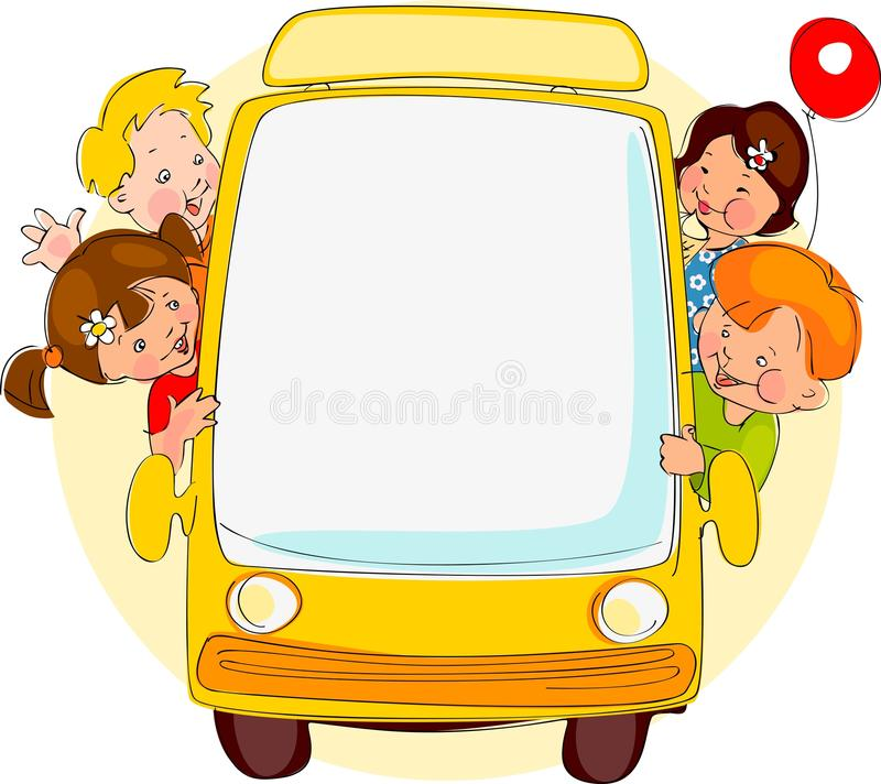Σχολικό λεωφορείο. διανυσματική απεικόνιση