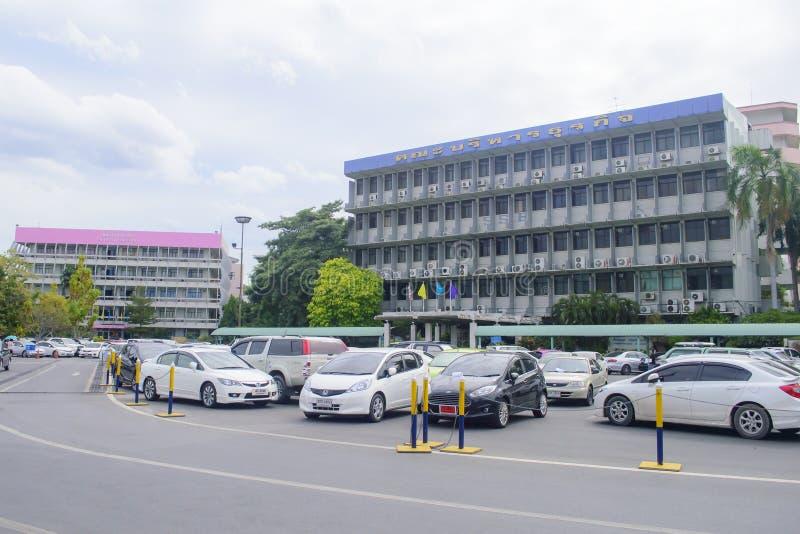 Σχολή της επιχειρησιακής διοίκησης στο πανεπιστήμιο Ramkhamhaeng στοκ εικόνα