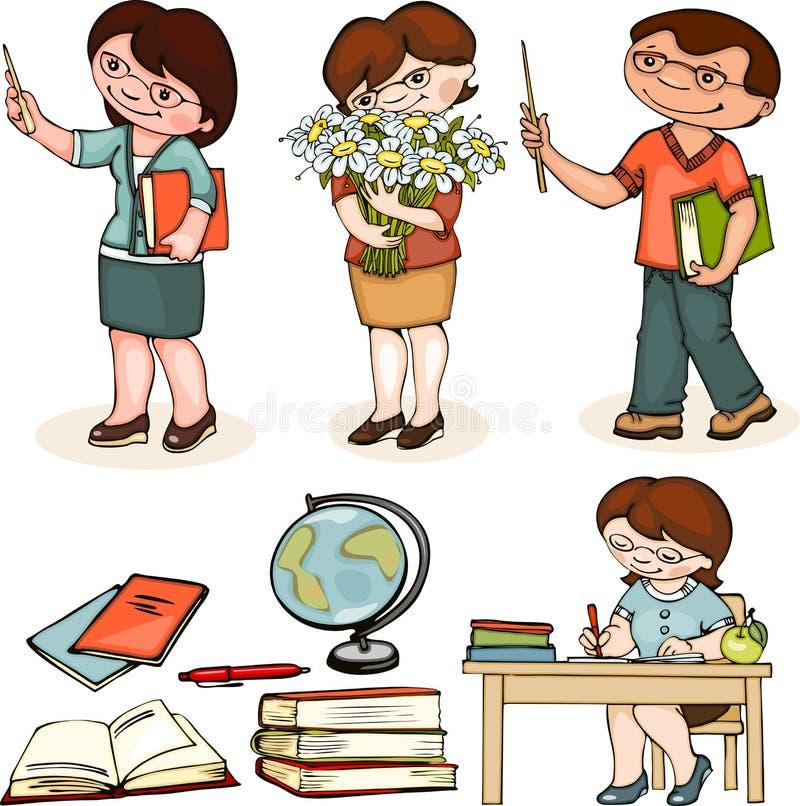 Σχολείο δασκάλων ελεύθερη απεικόνιση δικαιώματος