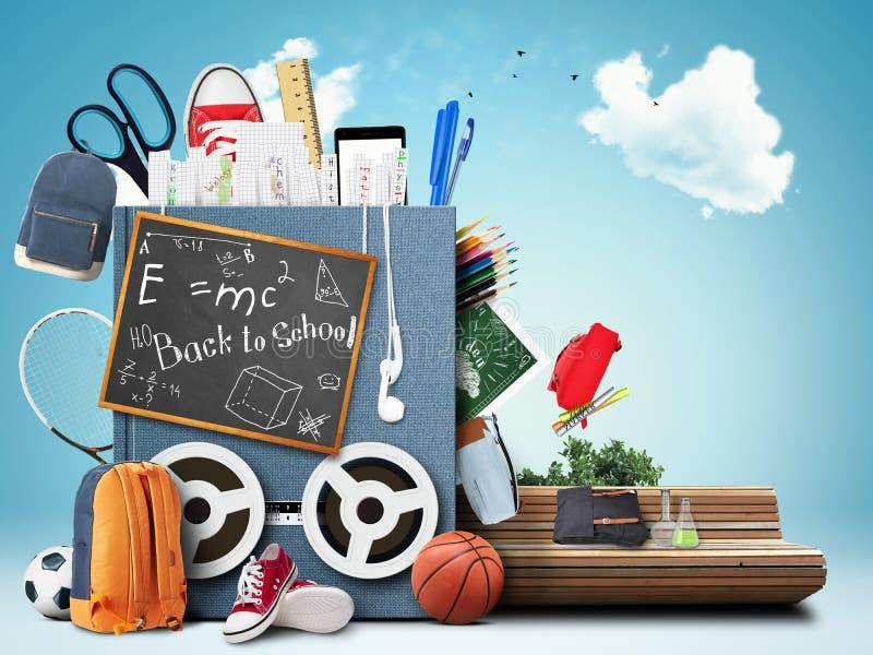 Σχολείο, εκπαίδευση διανυσματική απεικόνιση