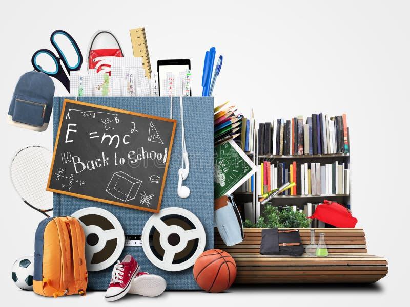 Σχολείο, εκπαίδευση απεικόνιση αποθεμάτων