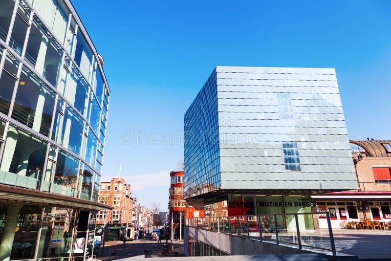 Σχολείο μουσικής και παλάτι γυαλιού στο Χήρλην, Κάτω Χώρες στοκ φωτογραφία