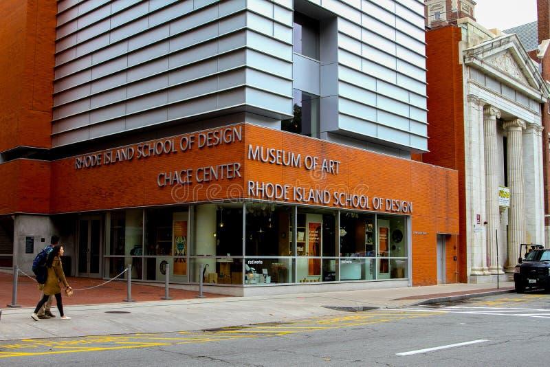 Σχολείο Ρόουντ Άιλαντ του σχεδίου, Μουσείο Τέχνης στοκ εικόνα με δικαίωμα ελεύθερης χρήσης