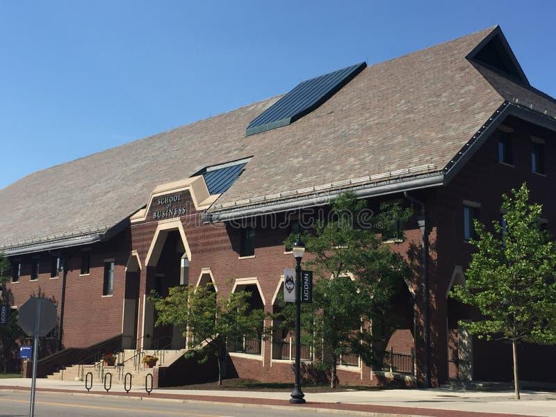 Σχολείο της επιχείρησης στο πανεπιστήμιο του Κοννέκτικατ σε Storrs στοκ φωτογραφίες