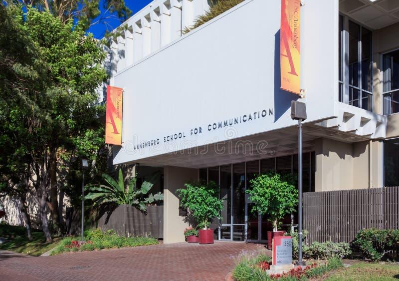 Σχολείο Annenberg Πανεπιστημίου της Νότιας Καλιφόρνιας για Communica στοκ εικόνες