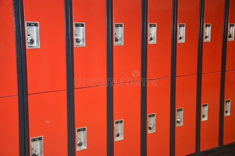 Σχολικά ντουλάπια στοκ φωτογραφία