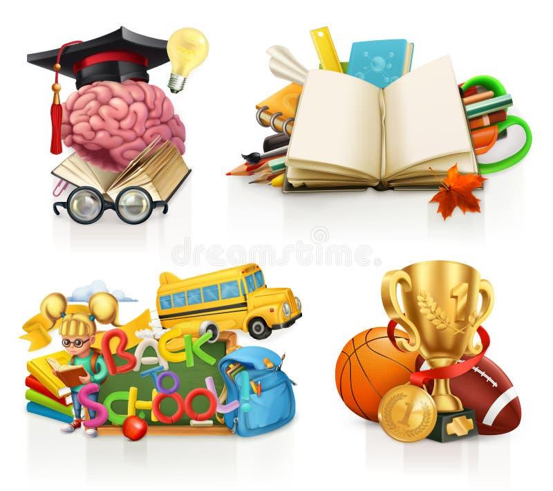 Σχολικές έννοιες, διανυσματικό σύνολο απεικόνιση αποθεμάτων