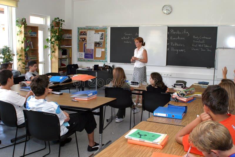 Σχολική τάξη στοκ εικόνα με δικαίωμα ελεύθερης χρήσης