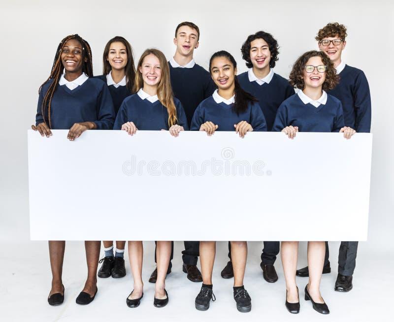 Σχολικοί ακαδημαϊκοί φίλοι εκπαίδευσης σπουδαστών στοκ εικόνες