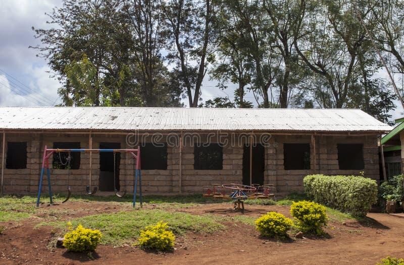 Σχολικό κτίριο φραγμών στην Αφρική στοκ εικόνες με δικαίωμα ελεύθερης χρήσης