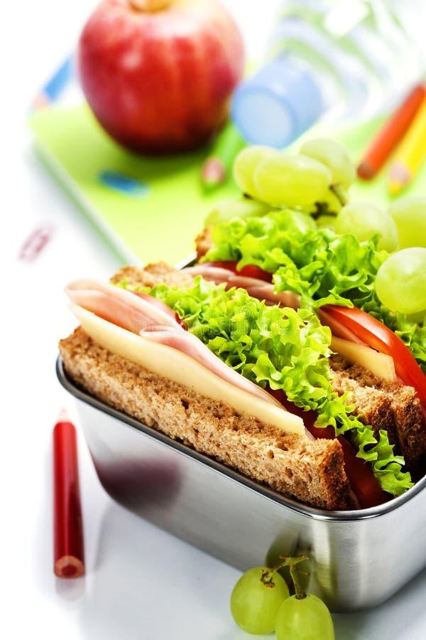 Σχολικό μεσημεριανό γεύμα στοκ εικόνες με δικαίωμα ελεύθερης χρήσης