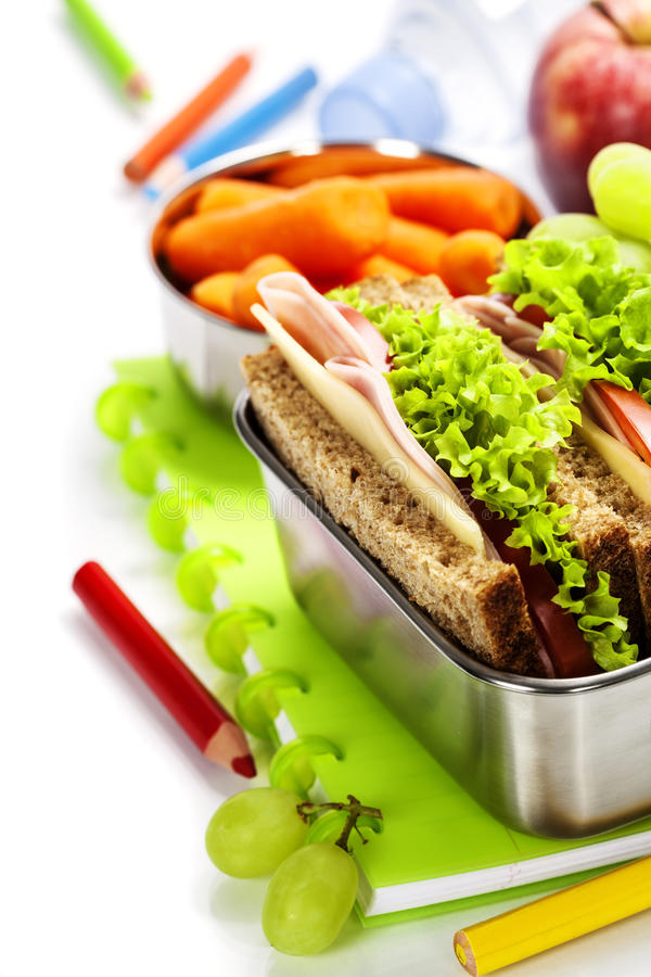 Σχολικό μεσημεριανό γεύμα στοκ φωτογραφία με δικαίωμα ελεύθερης χρήσης