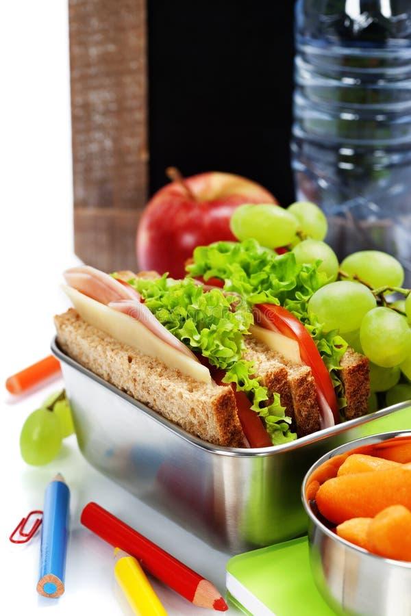 Σχολικό μεσημεριανό γεύμα στοκ εικόνα