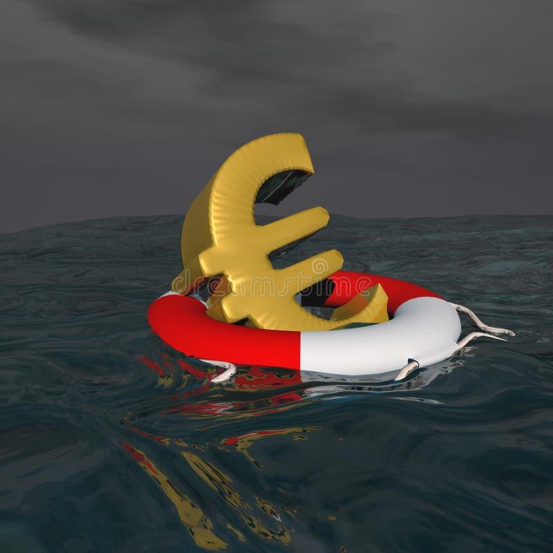 Σωζόμενο ευρώ - τρισδιάστατο δώστε διανυσματική απεικόνιση
