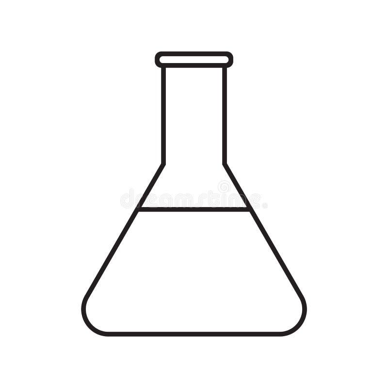 Σωλήνας δοκιμής εικονιδίων γραμμών απεικόνιση αποθεμάτων