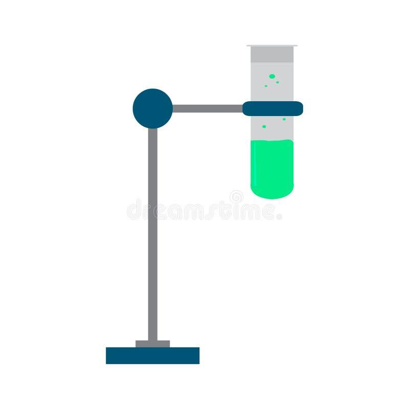 Σωλήνας δοκιμής σε μια στάση διανυσματική απεικόνιση