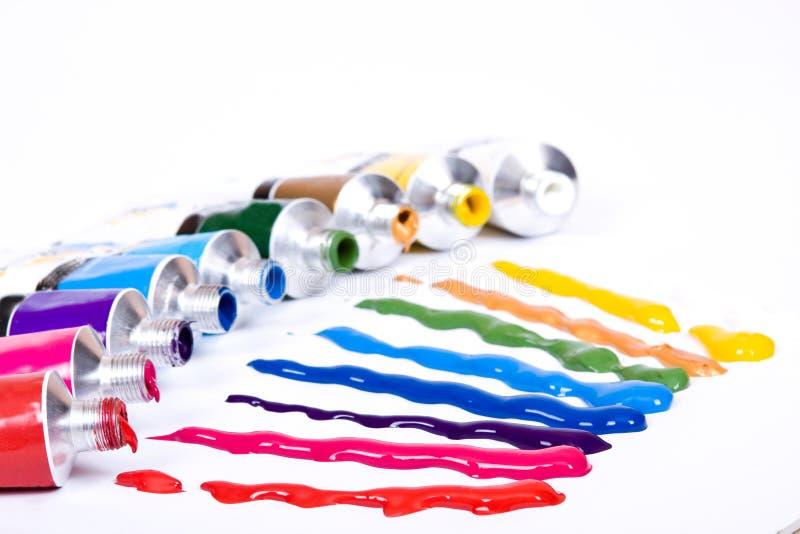 σωλήνας χρωμάτων στοκ εικόνες