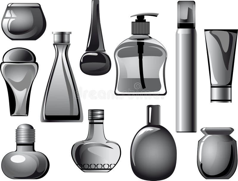 σωλήνες produ βάζων φιαλών εμπ&omic διανυσματική απεικόνιση