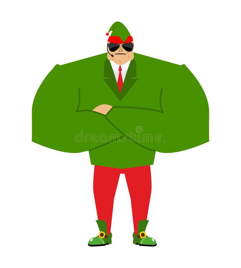 Σωματοφυλακές νεραιδών Santa Φρουρές Χριστουγέννων Προστασία του νέου έτους def διανυσματική απεικόνιση
