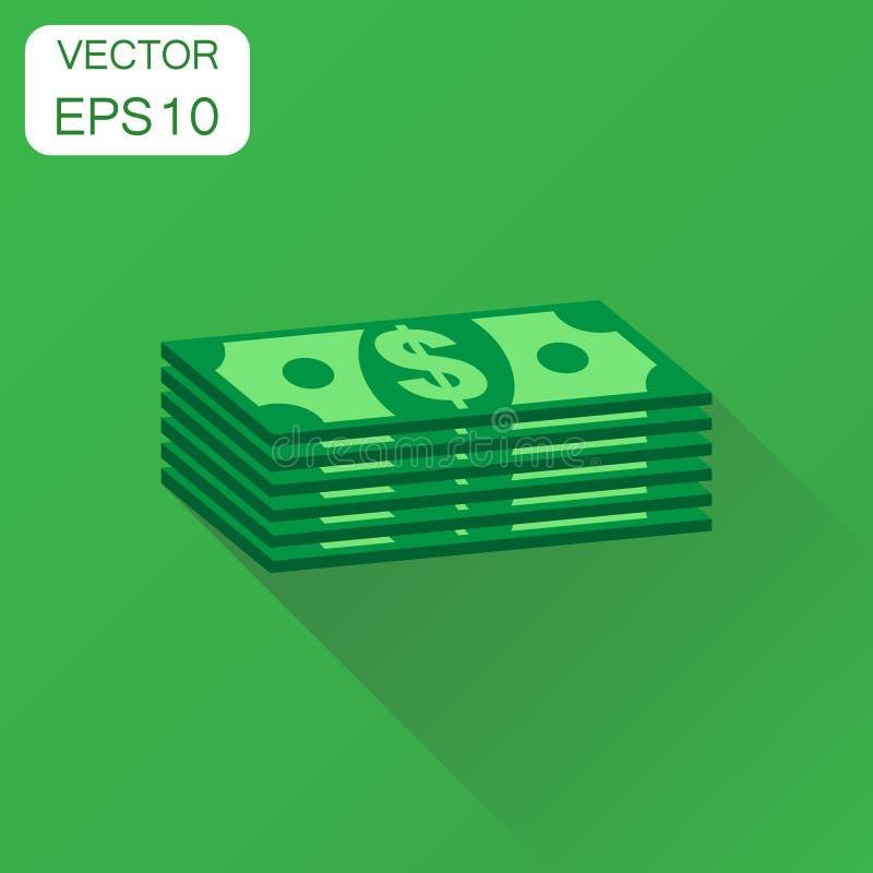 Σωροί του ευρο- εικονιδίου μετρητών Pictogra χρημάτων δολαρίων επιχειρησιακής έννοιας απεικόνιση αποθεμάτων