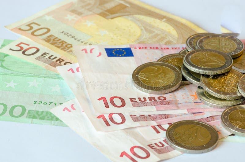 Σωροί των νομισμάτων στοκ φωτογραφία με δικαίωμα ελεύθερης χρήσης